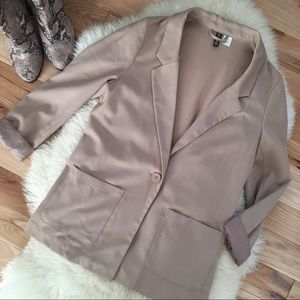H&M Tan Fitted Blazer